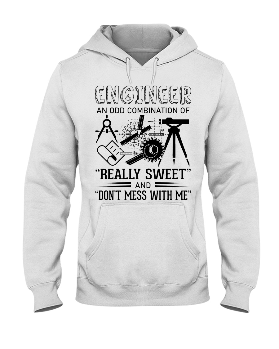 Engineer An Odd Combination Of Really Sweet Hooded Sweatshirt