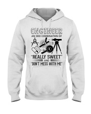 Engineer An Odd Combination Of Really Sweet Hooded Sweatshirt front