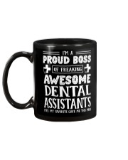 Proud Boss Of Awesome Dental Assistants Mug back
