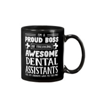 Proud Boss Of Awesome Dental Assistants Mug front