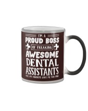Proud Boss Of Awesome Dental Assistants Color Changing Mug thumbnail