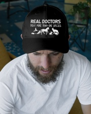 Real Doctors Treat More Veterinary Embroidered Hat garment-embroidery-hat-lifestyle-06