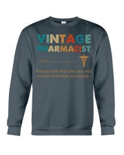 Vintage Pharmacist Knows More Than She Says Crewneck Sweatshirt thumbnail