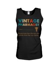 Vintage Pharmacist Knows More Than She Says Unisex Tank thumbnail