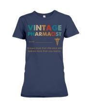 Vintage Pharmacist Knows More Than She Says Premium Fit Ladies Tee thumbnail