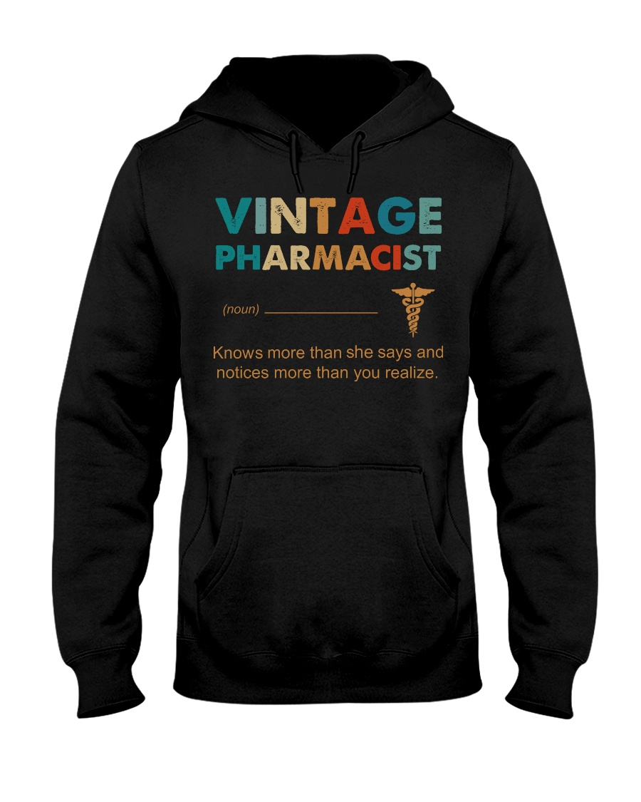 Vintage Pharmacist Knows More Than She Says Hooded Sweatshirt