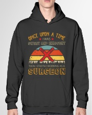 Sweet And Innocent Then Working As A Surgeon Hooded Sweatshirt garment-hooded-sweatshirt-front-04