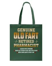 Old Fart Retired Pharmacist Tote Bag thumbnail