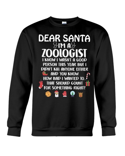 Dear Santa I'm A Zoologist
