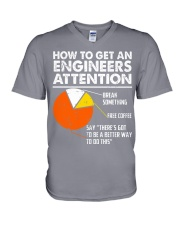 How To Get Engineers Attention V-Neck T-Shirt thumbnail