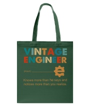 Vintage Engineer Knows More Than He Says Tote Bag thumbnail