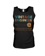 Vintage Engineer Knows More Than He Says Unisex Tank thumbnail