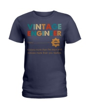Vintage Engineer Knows More Than He Says Ladies T-Shirt thumbnail