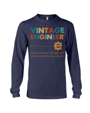 Vintage Engineer Knows More Than He Says Long Sleeve Tee thumbnail