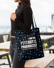 Psychotic Pharmacist All-over Tote aos-all-over-tote-lifestyle-front-04