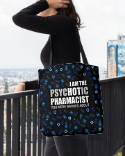 Psychotic Pharmacist All-over Tote aos-all-over-tote-lifestyle-front-05
