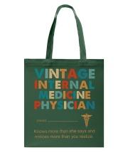 Vintage Internal Medicine Knows More Than She Tote Bag thumbnail