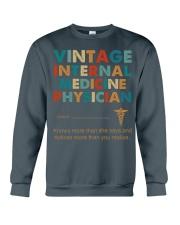 Vintage Internal Medicine Knows More Than She Crewneck Sweatshirt thumbnail
