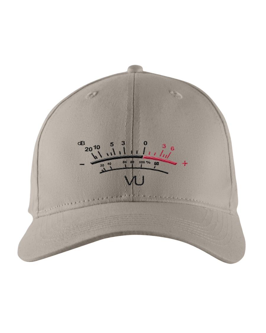 VU Meter White Embroidered Hat