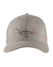 VU Meter White Embroidered Hat front