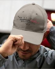 VU Meter White Embroidered Hat garment-embroidery-hat-lifestyle-01