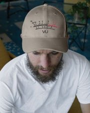 VU Meter White Embroidered Hat garment-embroidery-hat-lifestyle-06
