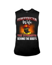 Firefighter Wife The Strength Behind The Boots Sleeveless Tee thumbnail