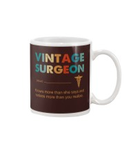 Vintage Surgeon Knows More Than She Says Mug thumbnail
