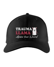 Trauma Llama Alpaca Your Wound Embroidered Hat front