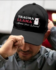 Trauma Llama Alpaca Your Wound Embroidered Hat garment-embroidery-hat-lifestyle-01