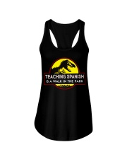 Teaching Spanish Is A Walk In The Park Ladies Flowy Tank front