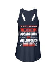Veterinarian With The Vocabulary Ladies Flowy Tank thumbnail