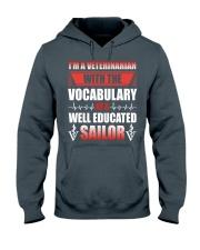 Veterinarian With The Vocabulary Hooded Sweatshirt thumbnail