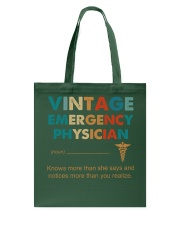Vintage Emergency Physician Knows More Than She Tote Bag thumbnail