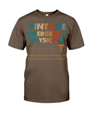 Vintage Emergency Physician Knows More Than She Classic T-Shirt thumbnail