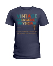Vintage Emergency Physician Knows More Than She Ladies T-Shirt thumbnail