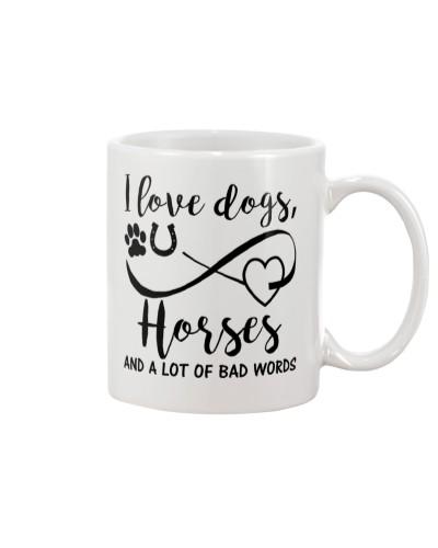 I Love Dogs Horses