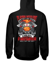 Playing With A Firefighter Hooded Sweatshirt back