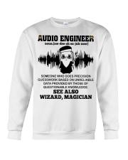 Audio Engineer See Also Wizard Magician Crewneck Sweatshirt thumbnail