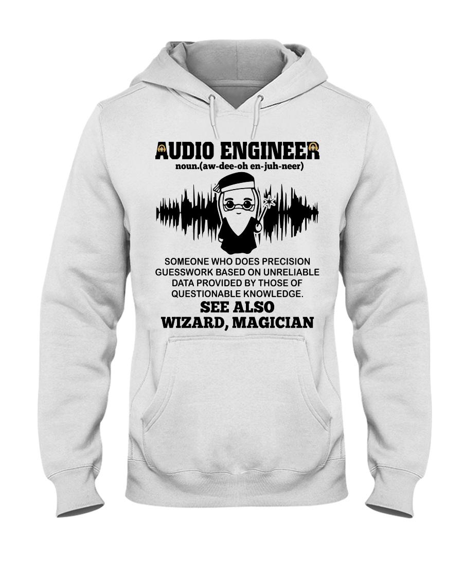 Audio Engineer See Also Wizard Magician Hooded Sweatshirt