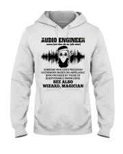 Audio Engineer See Also Wizard Magician Hooded Sweatshirt front