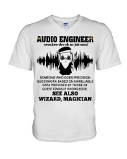 Audio Engineer See Also Wizard Magician V-Neck T-Shirt thumbnail