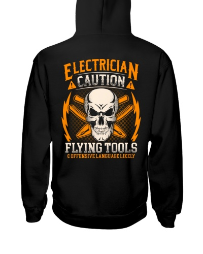Electrician Caution Flying Tools