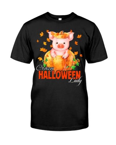 Crazy Halloween Pig Lady