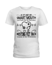 It's My Resting Vet Face There Is No Winning Ladies T-Shirt thumbnail