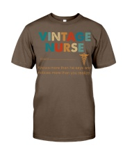 Vintage Nurse Knows More Than He Says Classic T-Shirt thumbnail