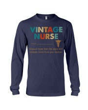 Vintage Nurse Knows More Than He Says Long Sleeve Tee thumbnail