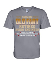 Genius Old Fart Retired Audio Engineer V-Neck T-Shirt thumbnail