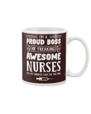 Proud Boss Of Awesome Nurses Mug tile