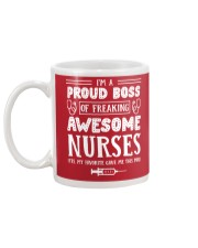 Proud Boss Of Awesome Nurses Funny Gift For Boss Mug back